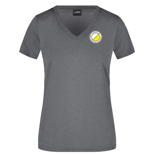 Team T-Shirt Grau TCL Weiß-Gelb Damen