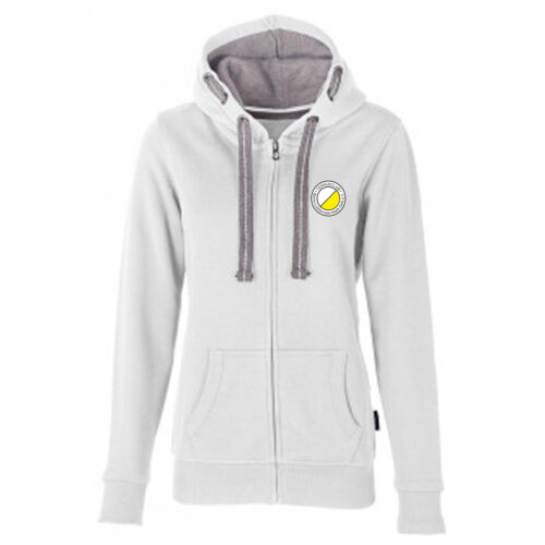 Team Hooded Sweat Jacket Weiß TCL Weiß-Gelb Damen
