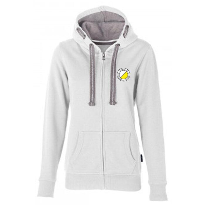 Team Hooded Sweat Jacket Weiß TCL Weiß-Gelb Damen