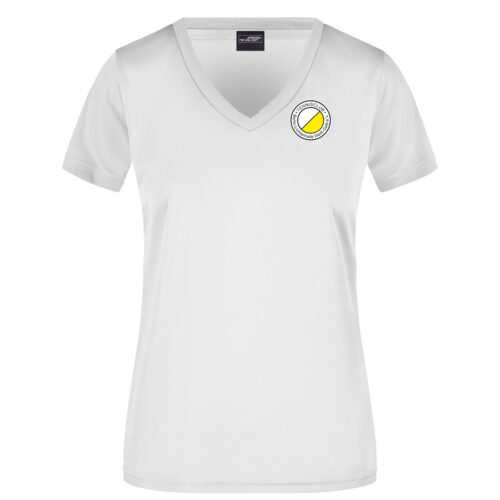 Team T-Shirt Weiß TCL Weiß-Gelb Damen